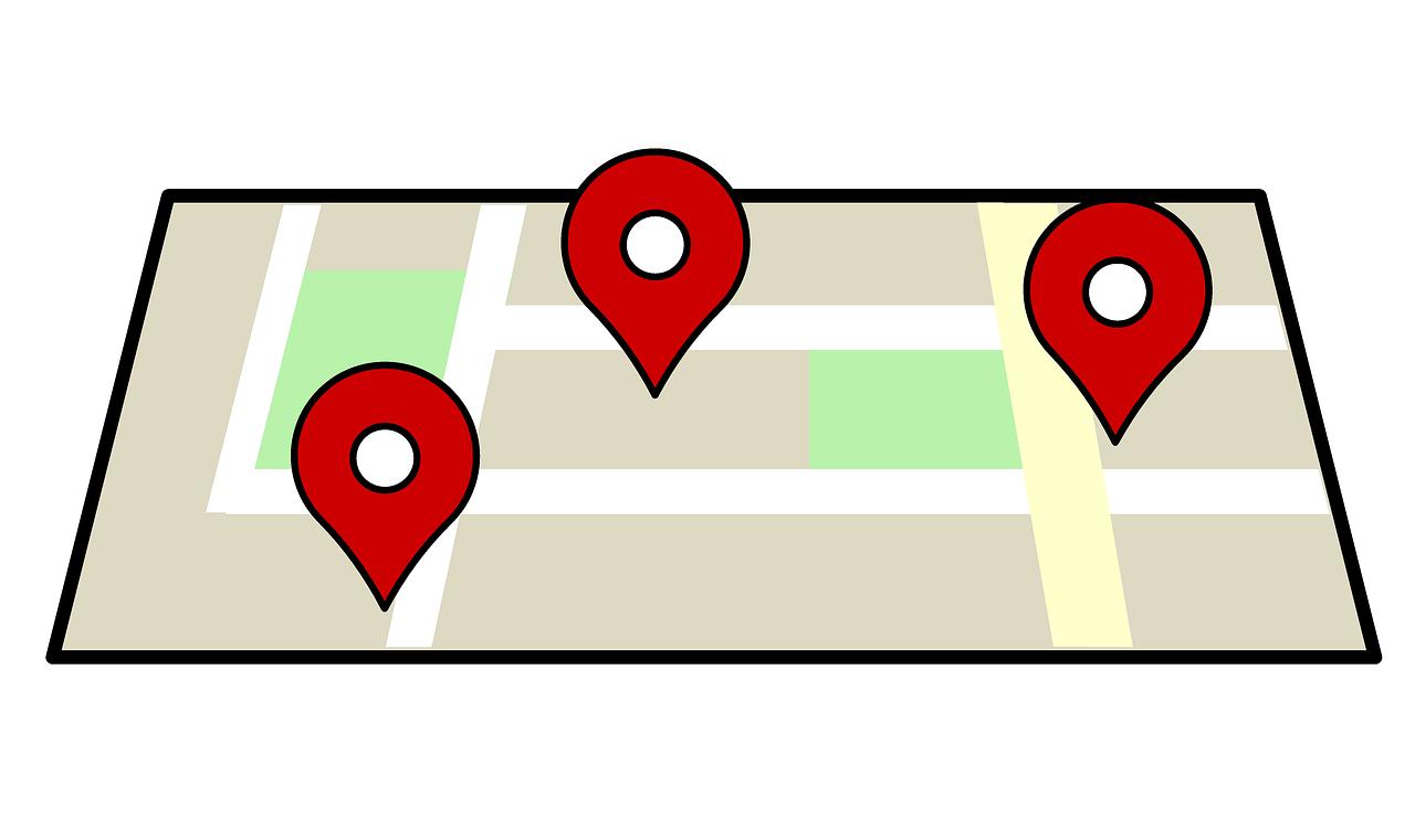 ilustrasi lokasi usaha map