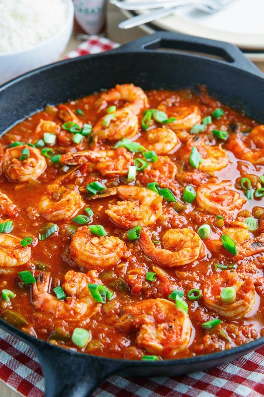 gambar makanan pedas Shrimp Creole spicy soup amerika