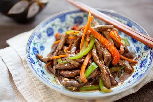 gambar makanan pedas szechuan beef china