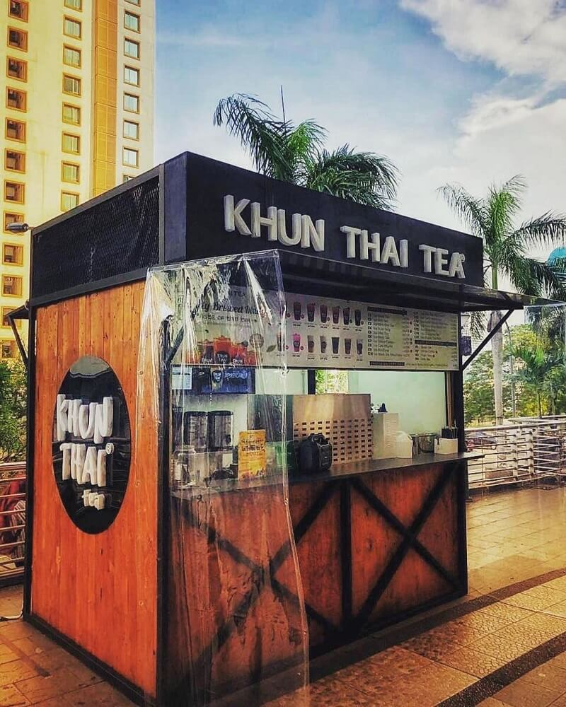 gambar booth waralaba khun thai tea