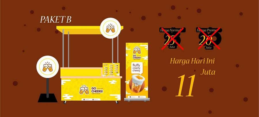 gambar paket B gocheers franchise thai tea
