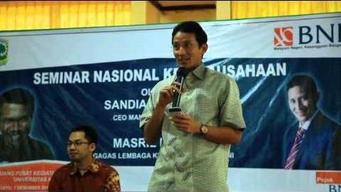 foto biografi pengusaha muda indonesia Sandiaga Uno
