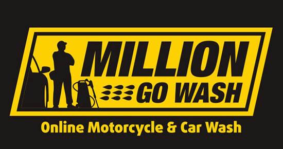 logo franchise jasa kebersihan kendaraan bermotor million gowash