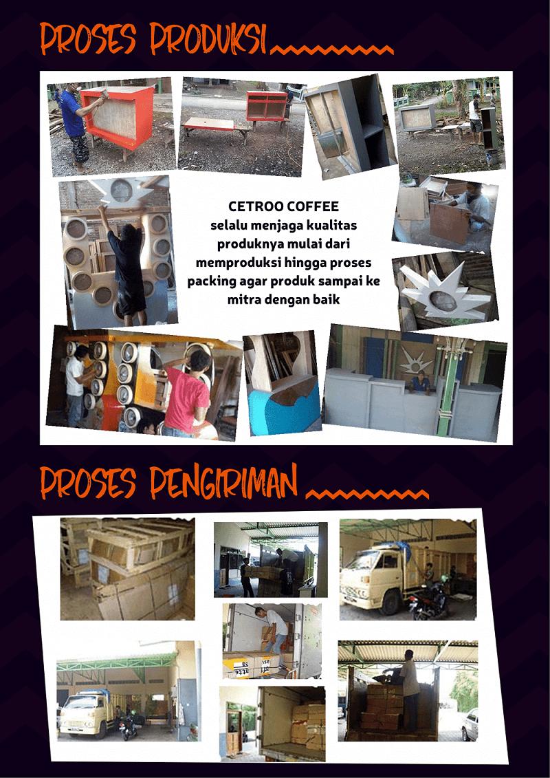 image proses produksi dan pembuatan booth cetroo