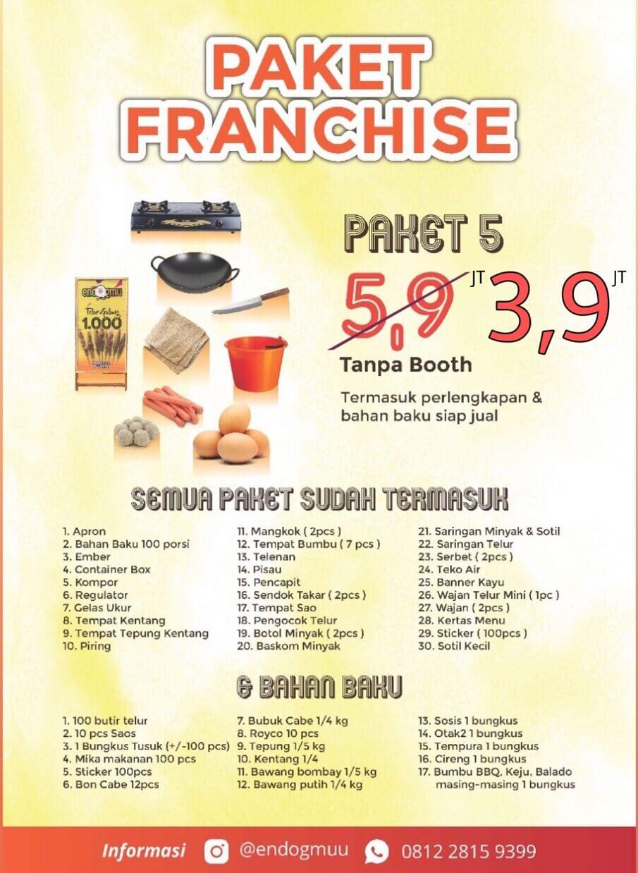 brosur franchise di bawah 5 juta