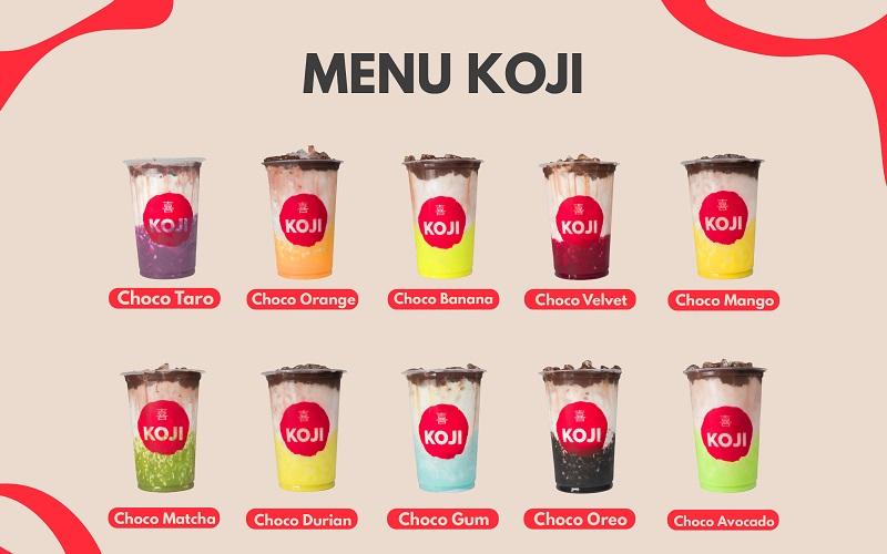 menu koji choco