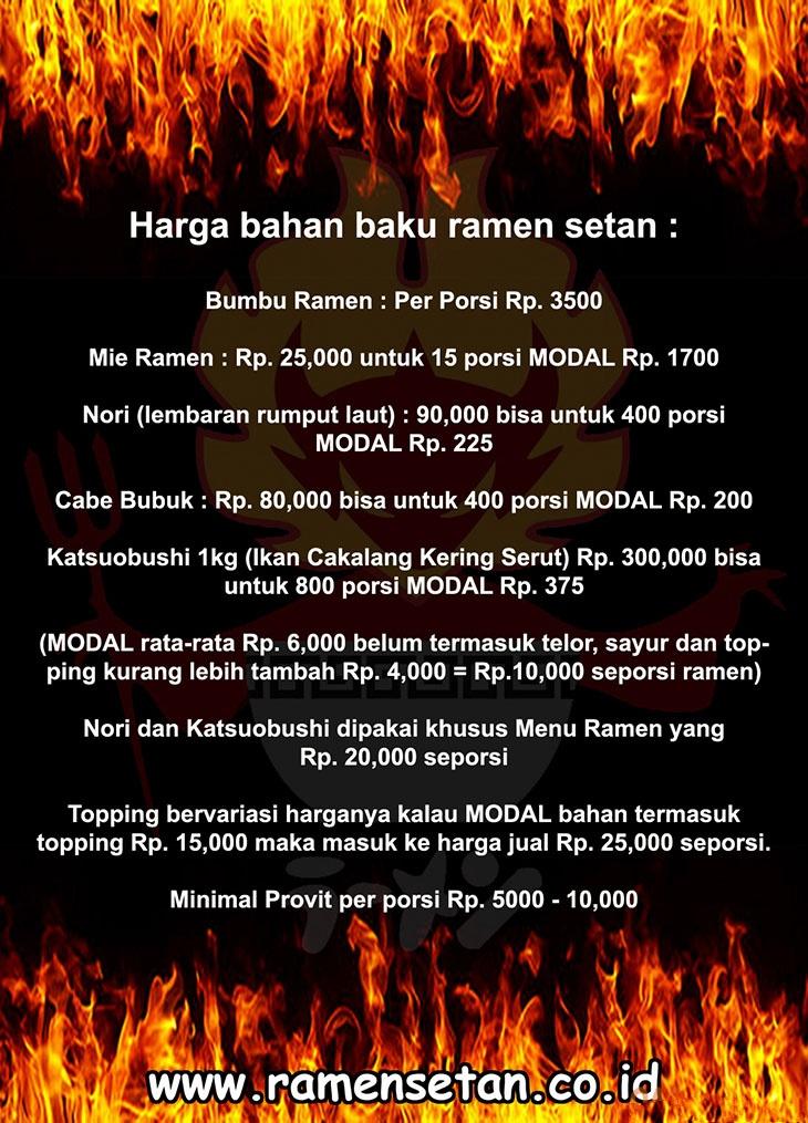 13 peluang usaha franchise ramen setan