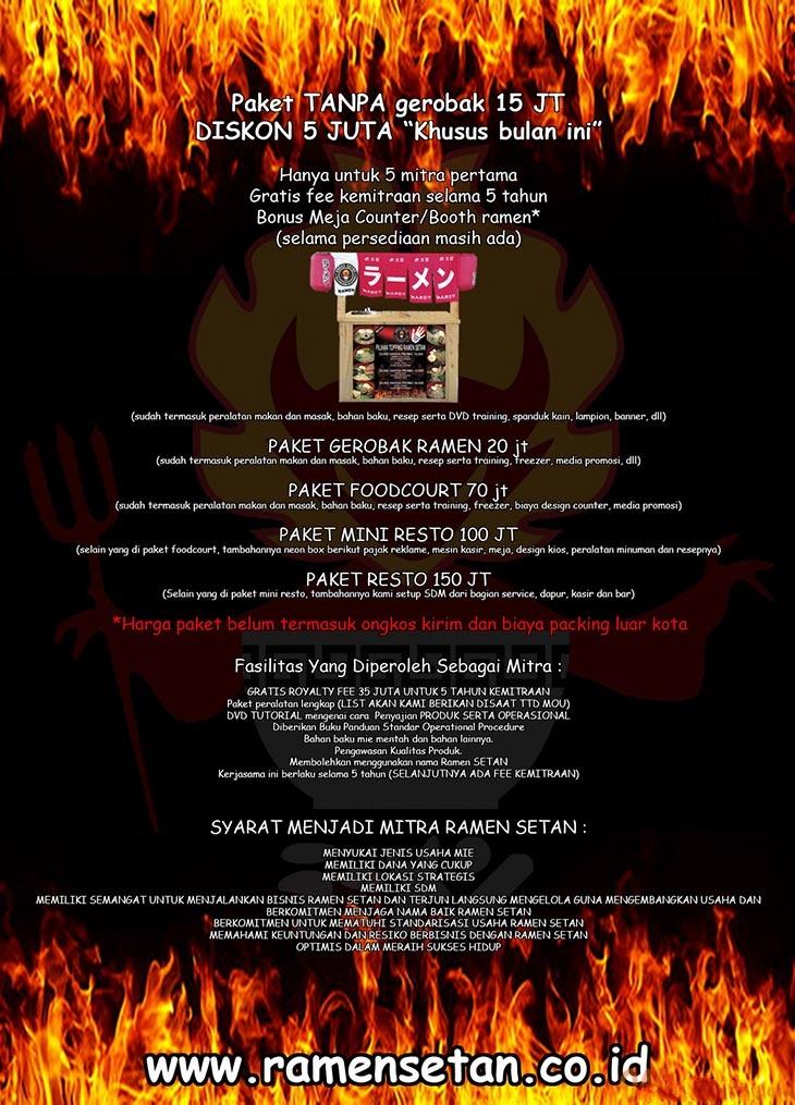 14 peluang usaha franchise ramen setan