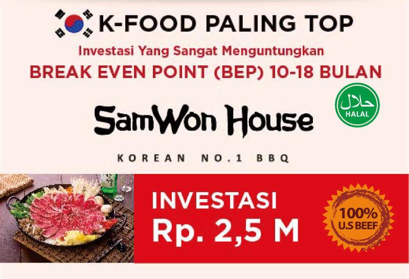 brosur franchise samwon investasi restoran korea