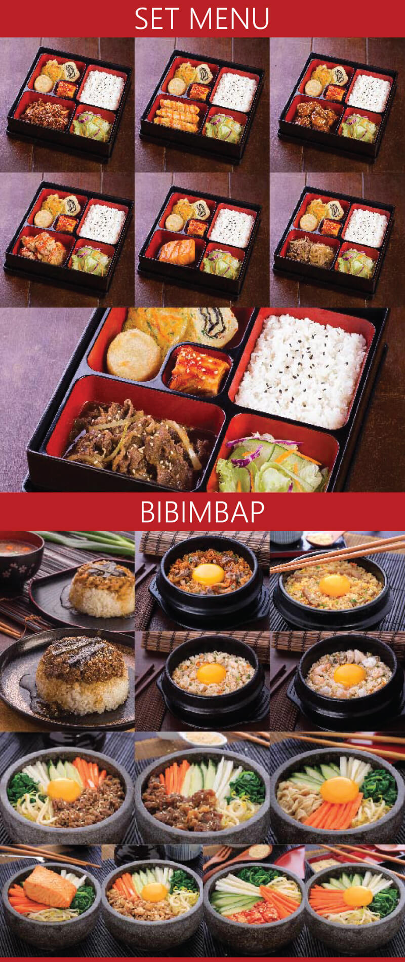 brosur waralaba resto modern dengan menu koran food