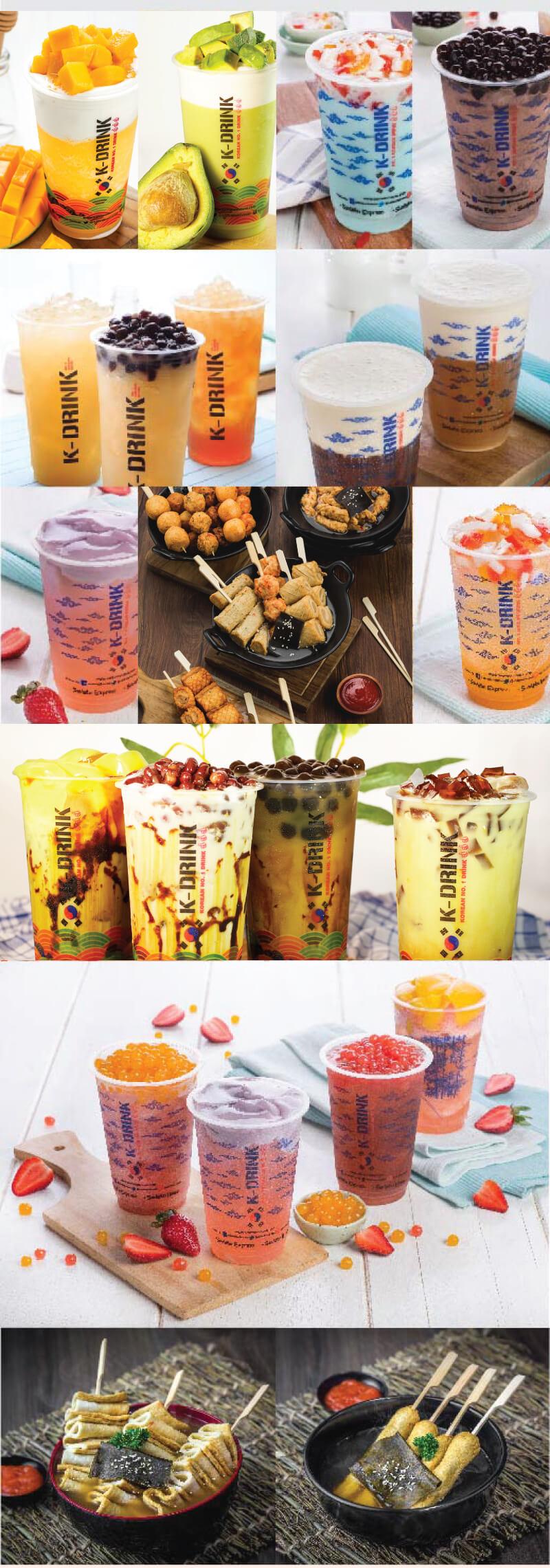 brosur menu minuman menyegarkan samwon