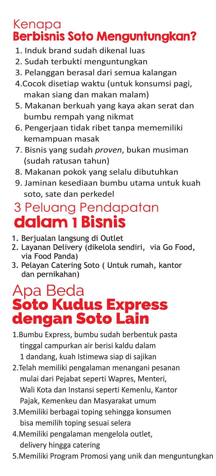 4 peluang usaha franchise soto kauman express soto depok asli kudus